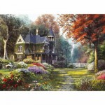 Puzzle  Clementoni-39172 Dominic Davison: Schönes Haus im viktorianischen Garten