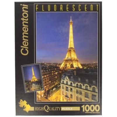 Clementoni-39210 Puzzle 1000 Teile fluoreszierend: Paris bei Nacht