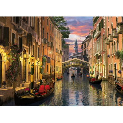 Puzzle Clementoni-39218 Dominic Davison: Romantic Italy - Venedig