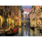 Puzzle  Clementoni-39218 Dominic Davison: Romantic Italy - Venedig