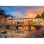 Puzzle  Clementoni-39220 Dominic Davison: Romantic Italy - Firenze