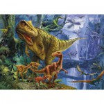 Clementoni-39261 Puzzle Magic Puzzle 3D Dinosaur Valley