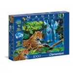 Puzzle  Clementoni-39284 Jaguar Im Dschungel