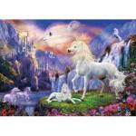 Puzzle  Clementoni-39285 Fluo Teile - Einhorn