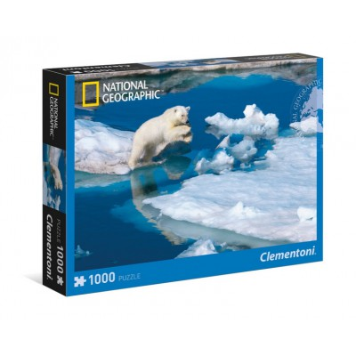 Puzzle Clementoni-39304 National Geographic - Polarbär