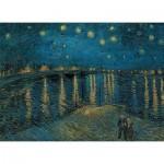Puzzle  Clementoni-39344 Van Gogh Vincent: Sternennacht über der Rhone