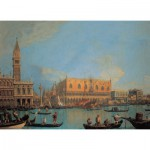 Puzzle  Clementoni-39346 Canaletto: Blick auf den Dogenpalast in Venedig