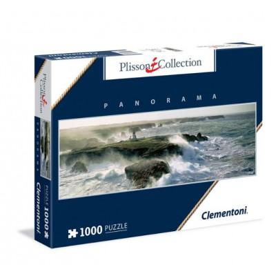 Puzzle Clementoni-39353 Plisson - Blast of wind on the Pointe des Poulains - Belle-Ile Island