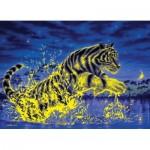 Clementoni-39354 Fluoreszierendes Puzzle - Tiger