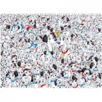 Clementoni-39358 Impossible Puzzle: Disney - 101 Dalmatiner
