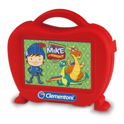 Clementoni-40652 Baby Würfelpuzzle Mike der Ritter