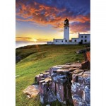 Puzzle  Trefl-10210 Der Leuchtturm Rua Reidh, Schottland