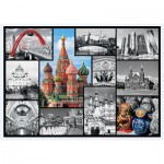 Puzzle  Trefl-10380 Moskau Collage