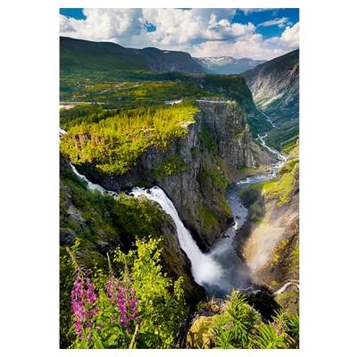 Puzzle Trefl-10382 Vøringsfossen Wasserfall in Norwegen