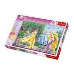 Puzzle  Trefl-13141 Disney Prinzessinnen im Garten