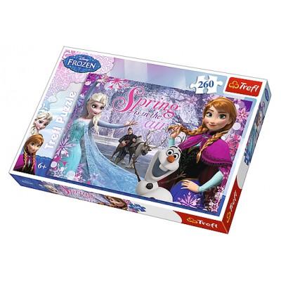 Puzzle Trefl-13195 Frozen - Die Eiskönigin: Spring is in the Air