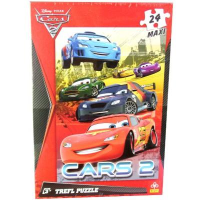 Trefl-14121 Puzzle 24 Teile Maxi - Cars 2