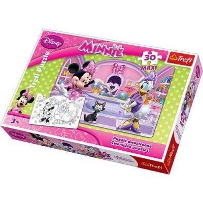 Puzzle Trefl-14165 Große Teile recto / verso - Minni und Daisy
