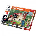 Puzzle  Trefl-14197 Beim Hausbau