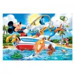 Trefl-14221 Extragroße Puzzleteile - Micky beim Angeln