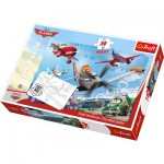 Trefl-14406 Maxipuzzle zum Ausmalen - Disney Planes