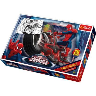 Trefl-14407 Maxipuzzle zum Ausmalen - Spiderman