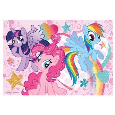 Trefl-14804 Extragroße Puzzleteile mit Pailletten - My Little Pony