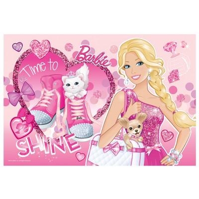 Trefl-14805 Extragroße Puzzleteile mit Pailletten - Barbie