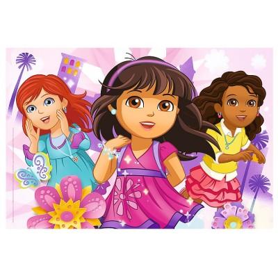 Trefl-14814 Glam Puzzle - Dora