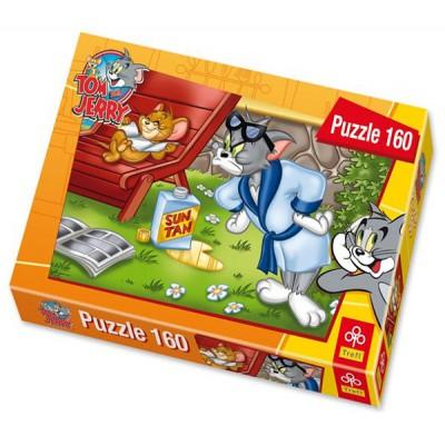 Puzzle Trefl-15156 Tom und Jerry: Jerrys Sonnenbad