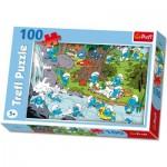 Puzzle  Trefl-16168 Die Schlümpfe am Fluss