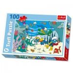 Puzzle  Trefl-16179 Die Schlümpfe: Unterwasserexpedition