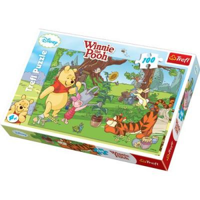 Puzzle Trefl-16185 Gärtnern mit Winnie und seinen Freunden