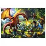 Puzzle  Trefl-16281 Kampf dem Drachen