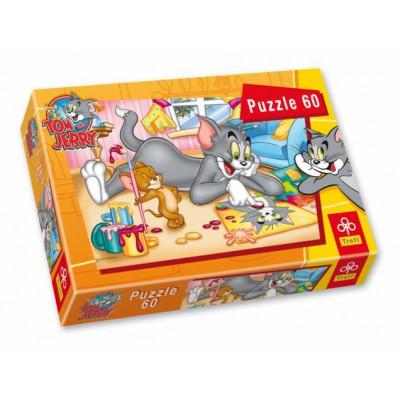 Puzzle Trefl-17159 Tom und Jerry als Künstler