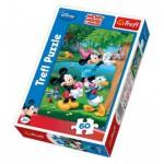 Puzzle  Trefl-17198 Micky und seine Freunde retten ein Kätzchen