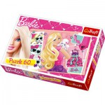 Puzzle  Trefl-17224 Barbie macht Shopping
