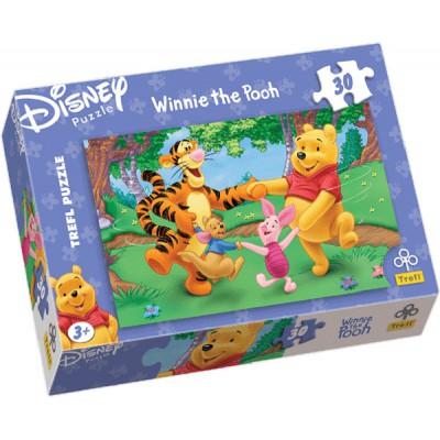 Puzzle Trefl-18105 Winnie the Pooh tanzt mit Freunden