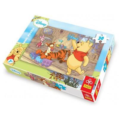 Puzzle Trefl-18153 Winnie the Pooh: Lasst uns spielen