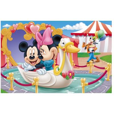 Puzzle Trefl-19276 Micky und Mini lieben sich