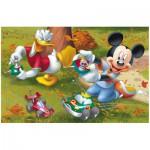 Puzzle  Trefl-19278 Micky und Donald mit ferngesteuerten Autos