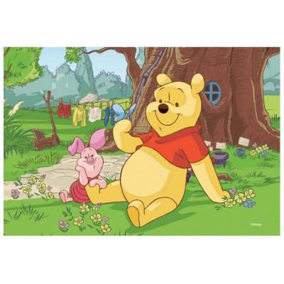 Puzzle Trefl-19394 Winnie Pooh: Winnie und Ferkel