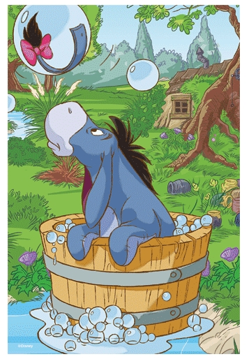 Puzzle Trefl-19401 Winnie Puuh: I-Aah nimmt ein Bad