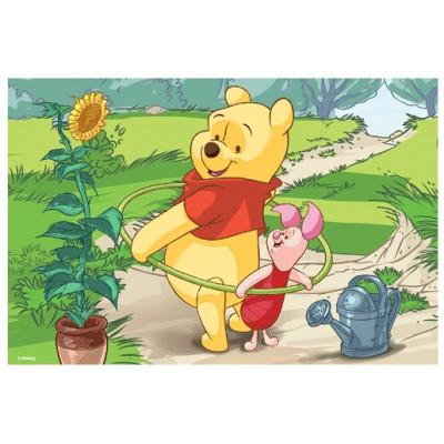 Puzzle Trefl-19402 Winnie Puuh: Winnie spielt mit Ferkel