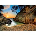 Puzzle  Trefl-27048 Sonnenuntergang an der Costa Brava, Spanien