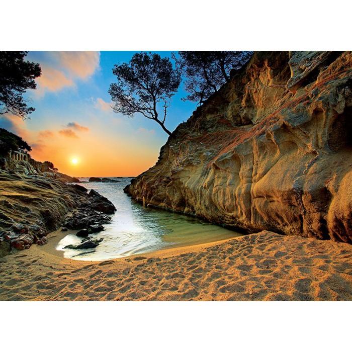 Sonnenuntergang an der Costa Brava, Spanien