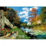 Puzzle  Trefl-27061 Gebirgsbach