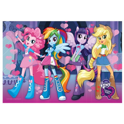 Trefl-30005 Shine Color Puzzle - My Little Pony