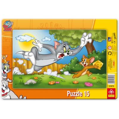 Trefl-31072 Rahmenpuzzle: tom und Jerry