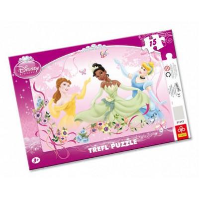 Trefl-31112 Rahmenpuzzle: Disney-Prinzessinnen